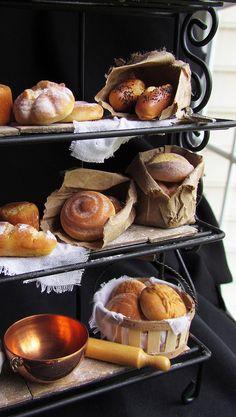 Bread rack miniature, Betsy Niederer