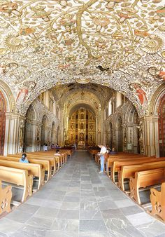 Santo Domingo Church and its amazing ceiling, Oaxaca by Halogenure, via Flickr