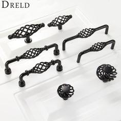 Cheap cupboard handles, Buy Quality drawer handles directly from China cabinet knobs and handles Suppliers: 2017 Furniture Handles Black Birdcage Wardrobe Door Pull Dresser Drawer Handle Kitchen Cupboard Handle Cabinet Knobs and Handles Dresser Drawer Handles, Door Pull Handles, Dresser Knobs, Knobs And Handles, Dresser Drawers, Knobs And Pulls, Dressers, Kitchen Door Knobs, Kitchen Cupboard Handles