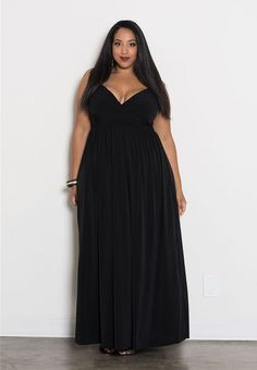 ba1322904794 Plus Size Maxi Dress Empire Waist Sleeveless Polyester Blend Solid 1X-6X  SWAK #SWAK
