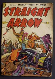 Straight Arrow Comic Book 6 Ungraded Western Cowboys Indians Golden AGE 1950 | eBay