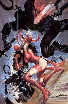 Elektra vs the Hand