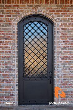 Steel Doors and Windows Single Door Design, Door And Window Design, Door Gate Design, House Gate Design, Main Door Design, Metal Screen Doors, Steel Doors And Windows, Wrought Iron Doors, Door Entryway