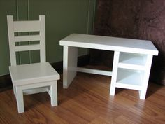 "School Desk for American Girl doll or other 18"" doll - Teacher Desk and Chair. $95.00, via Etsy."