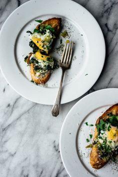 Baked Eggs on Toast