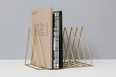 Gold Magazine Rack -