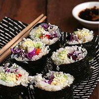 Cauliflower Rice Sushi (Gluten + Grain Free)