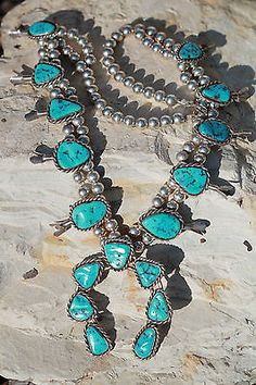 Yazzie Squash Blossom Cuff Bracelet Native American Indian Silversmith Signed C Vintage Southwestern Design