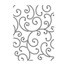 Breathe variety into your embossing folders collection with this versatile Gem Swirls design! Shop Darice® for your wholesale embossing folder needs. Dots Design, Swirl Design, Punched Tin Patterns, Fun Crafts, Paper Crafts, Upholstery Nails, Simple Backgrounds, Longarm Quilting, Arts And Crafts Supplies