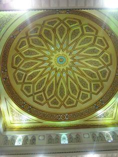 Hiasan di atap Masjid Nabawi Mecca Madinah, Peaceful Places