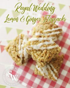 With the Royal Wedding proving a great inspiration for baking I've joined in for my local street party with these lemon and ginger flapjacks. With so many delicious cakes being made I wanted to try something little different but still as delicious and special for a party.