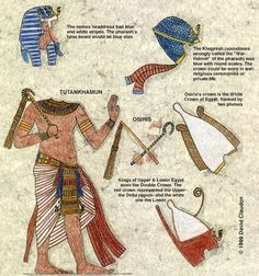 This picture is a rough outline of an egyptian man's outfit.