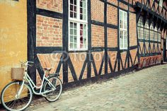 half timbered traditional house in ribe
