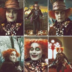 """Fun fact: the """"Mad Hatter"""" was never called that in the original book. He was just referred to as """"the Hatter"""".The only people who ever refer to him as """"mad"""" are outsiders like Alice and the Cheshire Cat. Alice And Wonderland Quotes, Alice In Wonderland Party, Adventures In Wonderland, Johnny Depp Characters, Johnny Depp Movies, Mad Hatter Drawing, Tim Burton Personajes, Johnny Depp Mad Hatter, Mal And Evie"""