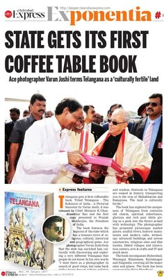 #Telangana State gets its first copy of coffee table book titled 'Telangana – The Kohinoor of India' which was presented to the president Pranab Mukherjee by K Chandrashekar Rao.