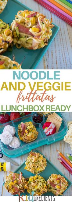 Recipes Snacks Savoury Perfect for the lunchbox, these noodle and veggie frittatas are a fun way to include veggies and eggs! Freezer friendly and super delicious. Kids Cooking Recipes, Baby Food Recipes, Gourmet Recipes, Kids Meals, Healthy Recipes, Easy Cooking, Keto Recipes, Healthy Cooking, Cooking Pasta