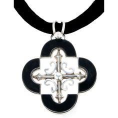 Onyx and Sterling Antonio Pineda  Pendant Necklace | 1stdibs.com