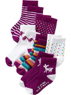 Fashion Crew Sock 6-Packs for Baby from Old Navy