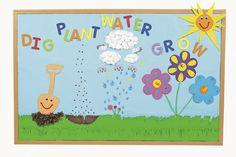 preschool classroom decorating ideas | Spring Sprouts Bulletin Board | Fun Ideas by Oriental Trading