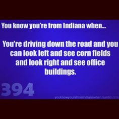 Not even kidding. If you turn left out of my neighborhood its a doctors office, gas station, stores, and some restaurants. If you turn right, its a field with a burnt down farm.
