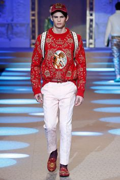 Dolce & Gabbana Fall 2018 Menswear Fashion Show Collection