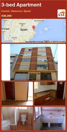 3-bed Apartment in Carlet, Valencia, Spain ►€36,300 #PropertyForSaleInSpain