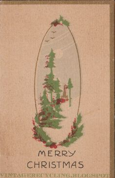 vintage recycling: Penny Xmas Folders -early 1900s Christmas Greeting...