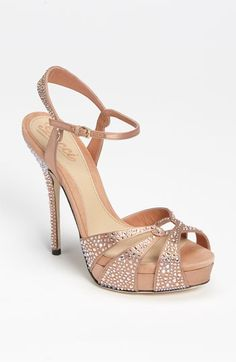 Blush bling bridal shoes!