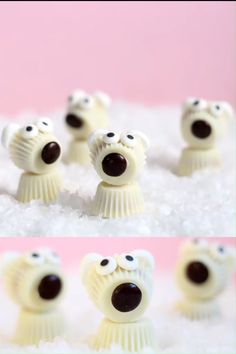 White chocolate mini Reese's Peanut Butter Cup polar bears are the cutest, easy, no-bake Christmas treats of the season.