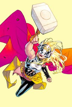 laurakinneys: The Mighty Thor 01 Marvel Girls, Marvel Art, Marvel Dc Comics, Marvel Heroes, Marvel Women, Female Superheroes And Villains, Female Comic Characters, Thor Girl, Lady Thor