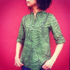 My version of Pauline Alice's Carme Blouse made in a green Dutch Wax print fabric to which I added piping to the yoke and to the cuff pieces.I love the pin tuck details which turned out to be very easy to sew.Overall, I am pretty pleased with the final result.This is definitly one of my...