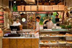 Pizza place by Dan Troim, Tel Aviv – Israel » Retail Design Blog