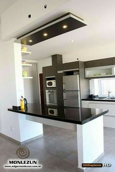 Warm Minimalist Decor Home minimalist home interior mezzanine.Minimalist Home Design Kitchen minimalist interior bedroom mid century. Apartment Kitchen, Apartment Interior, Kitchen Interior, New Kitchen, Kitchen Decor, Kitchen White, Kitchen Modern, Design Kitchen, Apartment Living