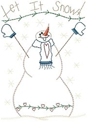 Let It Snow Sampler - 5x7   Winter   Machine Embroidery Designs   SWAKembroidery.com HeartStrings Embroidery