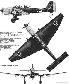 Junkers Ju 87 B-1 3V AKA the Stuka Dive bomber. This plane played a huge role in the early blitzkrieg style German warfare. It's dive siren was there to scare the targets on the ground below. I've read it was very effective on the minds of opposing soldiers.