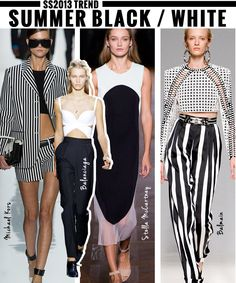 SS2013 Trend: Summer Black/White