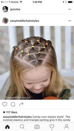 Kids School Hairstyles, Cute Toddler Hairstyles, Little Girl Hairstyles, Pretty Hairstyles, Braided Hairstyles, Girl Hair Dos, Baby Girl Hair, Natural Hair Styles, Long Hair Styles
