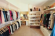 spare bedroom turned closet/ dressing room