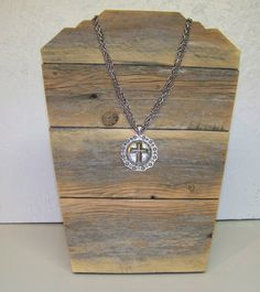 Jewelry Display Easel Rustic Aged Wood Sanded Natural by DITR, $25.00