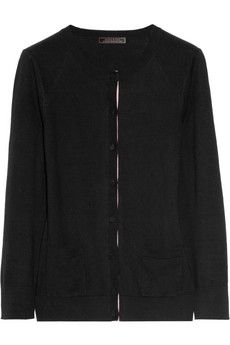 Nina Ricci Contrast-trimmed cotton-blend cardigan | NET-A-PORTER