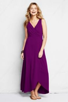 They made my FAV Land's End dress into a maxi. MUST HAVE Women's Fit and Flare Maxi Dress from Lands' End