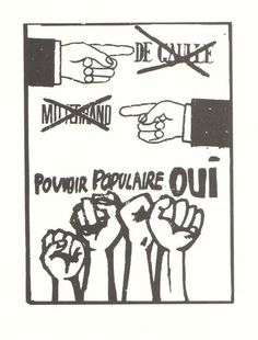 """Yes to popular power"" Protest Posters, Political Posters, Situationist International, General Strike, Fight The Power, Light Of My Life, Pictures To Draw, Vintage Posters, Posters"