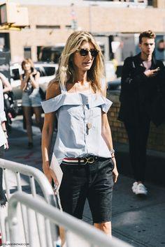 New_York_Fashion_Week-Spring_Summer-2016-Street-Style-Ralph_Lauren-Sarah_Ruston-Off_The_Shoulders-