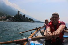 scottishcoastalrowing. Another few hours driving over the Alps got them to Lake Garda in Northern Italy, where they managed to launch the boat again for a row and lunch at a beach ...