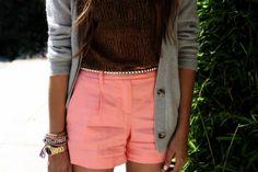 peachy Pink Shorts