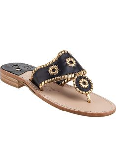 From --->  www.lepry.com Nantucket Thong Sandal Black Leather