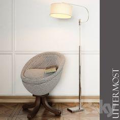 Uttermost / Rufaro, Accent Chair and Adara Floor Lamp