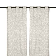 Silver Madeline Curtain Panel Set, 96 in.