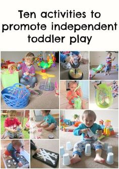 Activities to promote independent toddler play - I need these with a distracted 6 month old who won't nurse well!