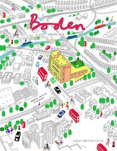 #paulboston #meiklejohn #illustration #digital #stylised #boden #map